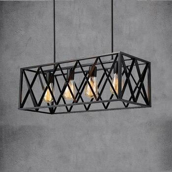 цены E27 Loft chandelier Iron vintage droplight living Dining room bar club cafe restaurant light industry pendant lamp headlight