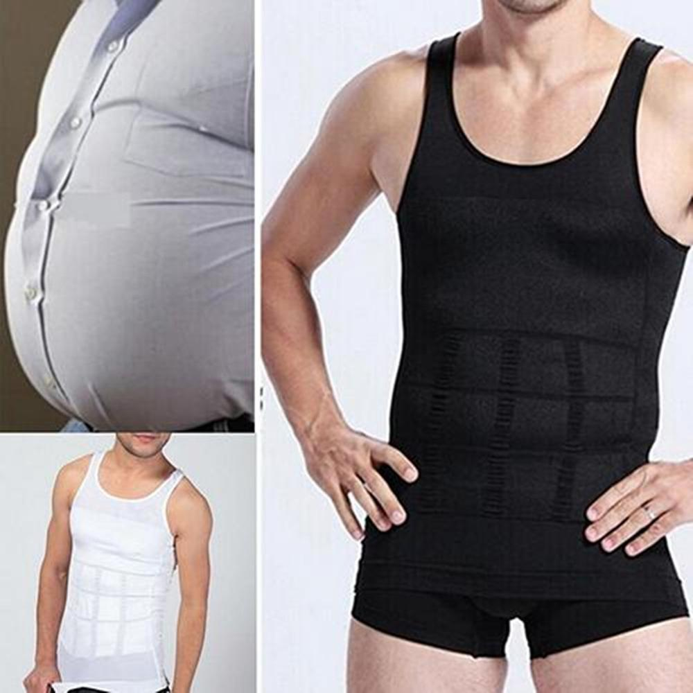 Fashion Men's Slim Body Shaper Vest Tank Top Tummy Waist Underwear Beer Belly Slimmer Comfortable To Wear Slim Fit 2020 New