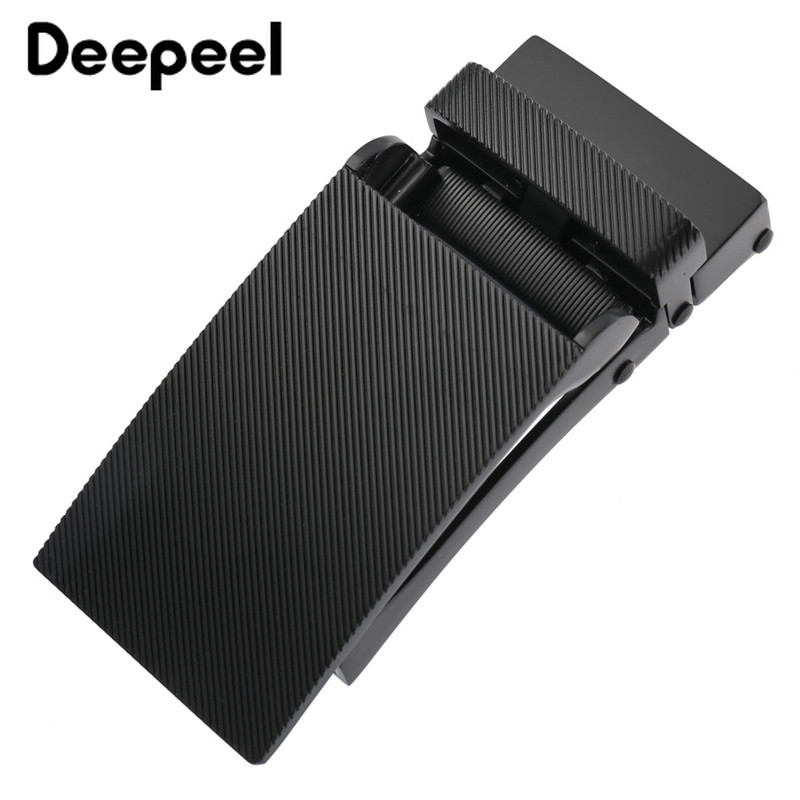 Deepeel 1pc 32mm Metal Automatic Belt Buckle Fashion Design Belt Buckles DIY Automatic Hook Adjustment Leather Accessories YK067