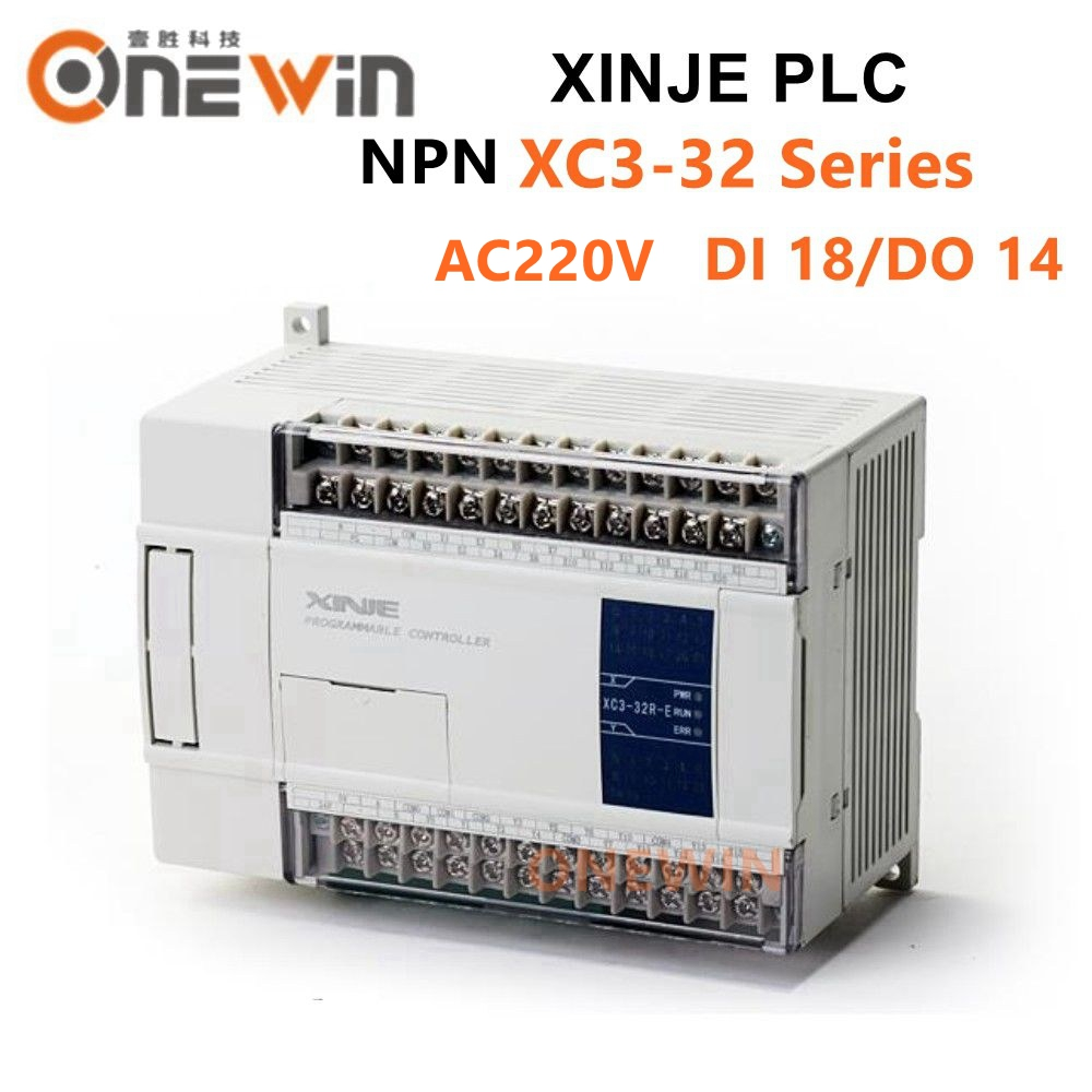 XINJE XC3 Series XINJE XC3-32R/T/RT-E PLC CONTROLLER MODULE AC220V DI 18 DO 14 Transistor New In Box