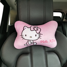 Cushion Pillow Car-Accessories Auto-Neck-Rest Kitty Interior Cute Cat Breathable