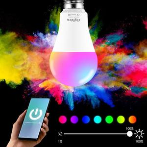 New E27 bluetooth Smart Light Bulb, Dimmable, Multicolor, Lights, RGBW LED Lamp Compatible with IOS /Android(China)