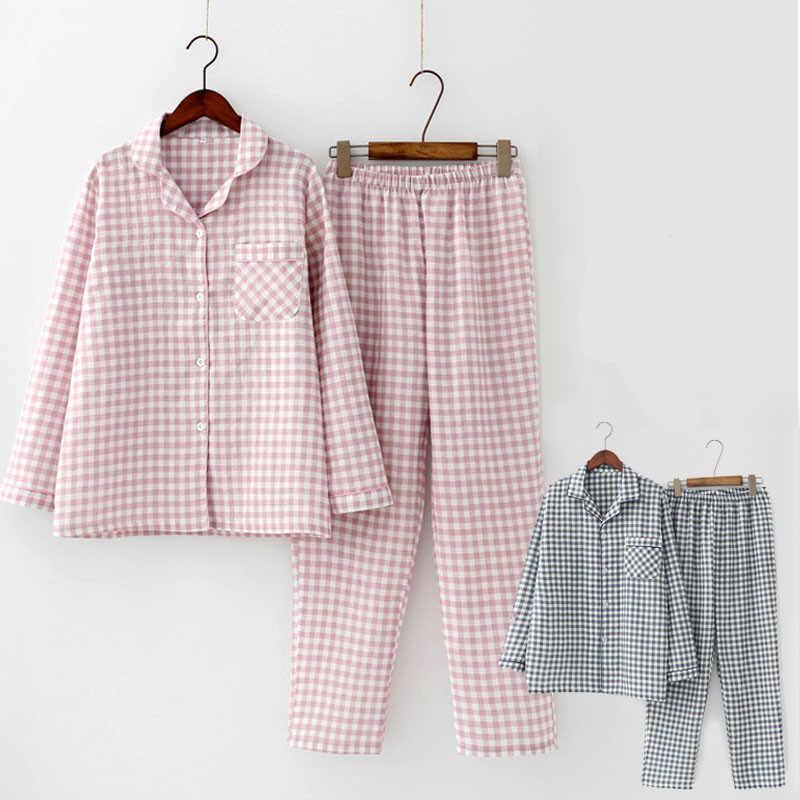 2 stks/sets Lente Katoen Vrouwen Pyjama Set Nachtkleding Herfst Plus Size Top + Lange Broek Nachtkleding Meisjes Pyjama