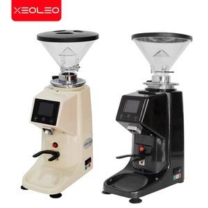 Image 5 - XEOLEO Electric Coffee grinder 200W Espresso coffee grinder Flat whetstone 500g Coffee miller Touch panel Bean crush maker