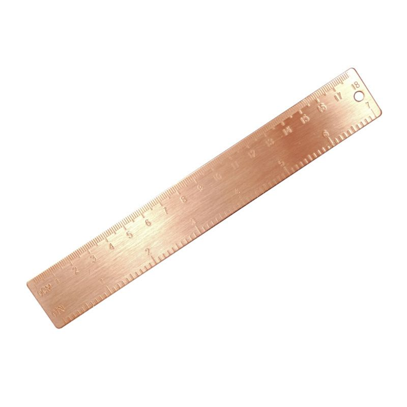 Straight Ruler Bookmark Vintage Copper Brass Straight Ruler Bookmark Cartography Painting Measuring Tool
