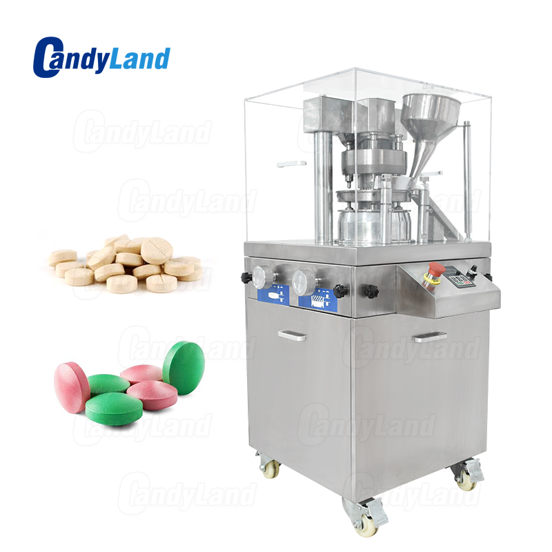 Candyland ZP-9A Rotary Tablet Presse Macchina Latte Tablet Forare Attrezzature Per 3D Tablet Die Set Macchina Farmaceutica