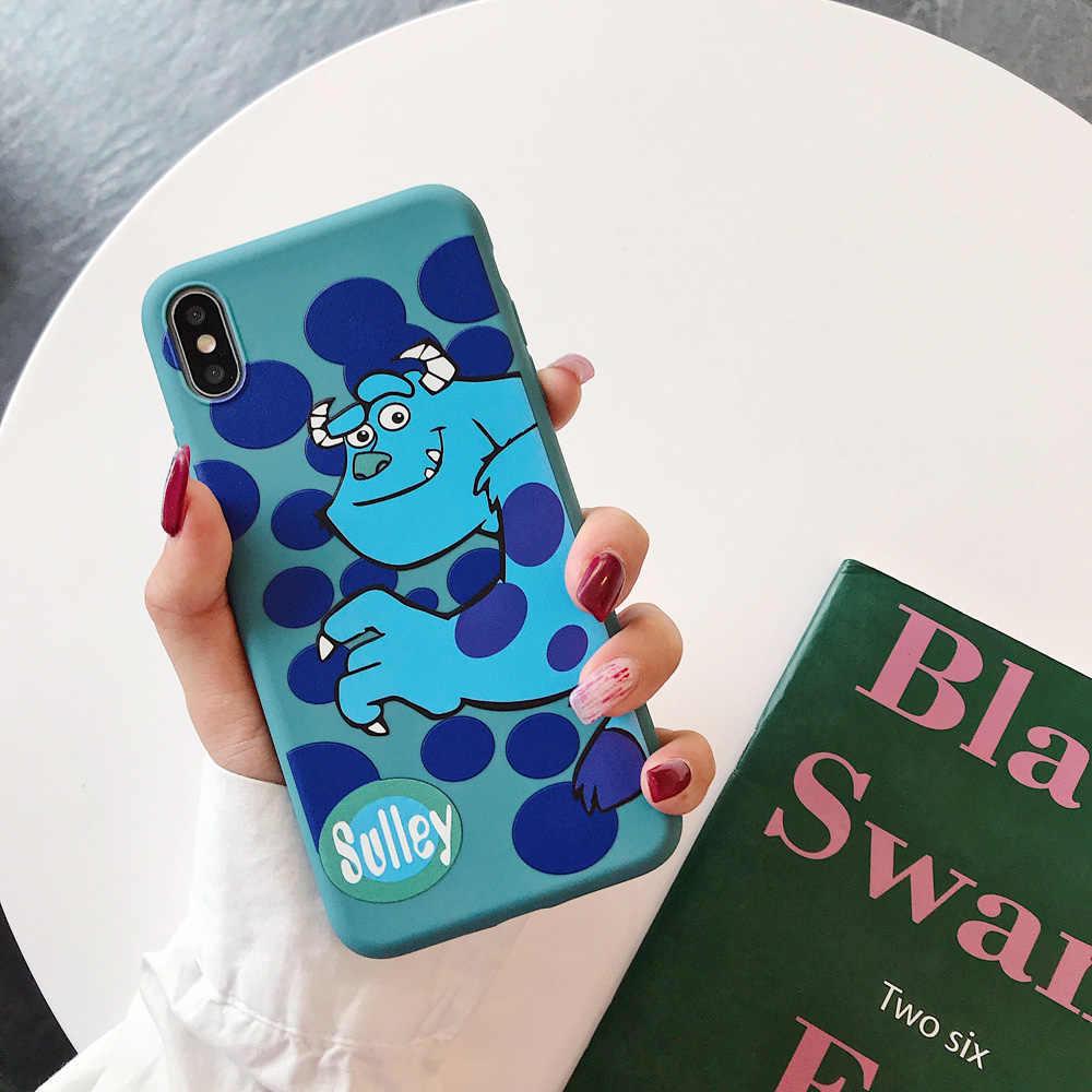 Nette Monster Sulley one eyed Alien cartoon weiche TPU telefon fall für iPhone 6 6s 7 8 plus X XS XR XS MAX Zurück Abdeckung Kühlen Shell