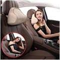 Oreiller de soutien de cou de voiture pour le soulagement de douleur de cou lors de la conduite oreiller d'appui-tête pour siège de voiture avec la mousse molle de mémoire Beige/noir/gris