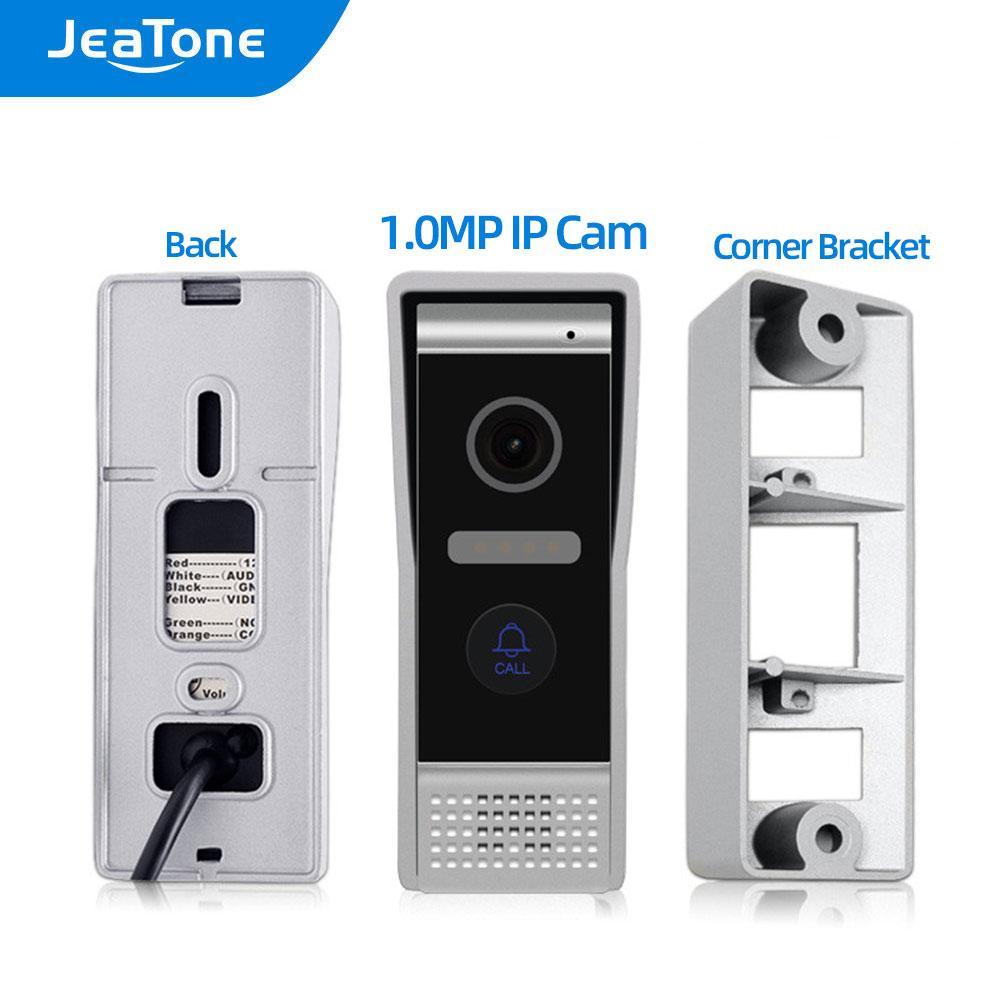JeaTone 1.0MP/IP Video Door Phone Aluminum Door Bell High Resolution Outside Doorbell Call Panel IP65 Waterproof