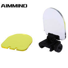 Riflescope Transparante Bulletproof Lens Protector Rood Groen Dot Sight Lens Cover Opvouwbare Rifle Airsoft Scope Shield Rail Mount(China)