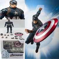 Marvel Avengers 4 Endgame SHF Capitan America figurativo de accion modelo juguetes munecas regalo