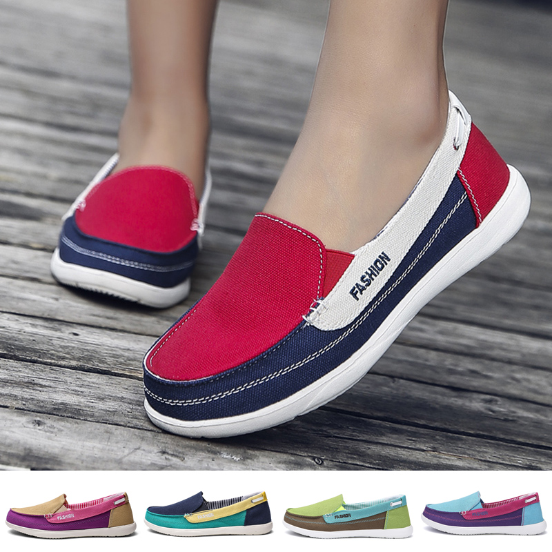 Fashion Ladies Casual Canvas Shoes Spring Summer Women Flat Shoes