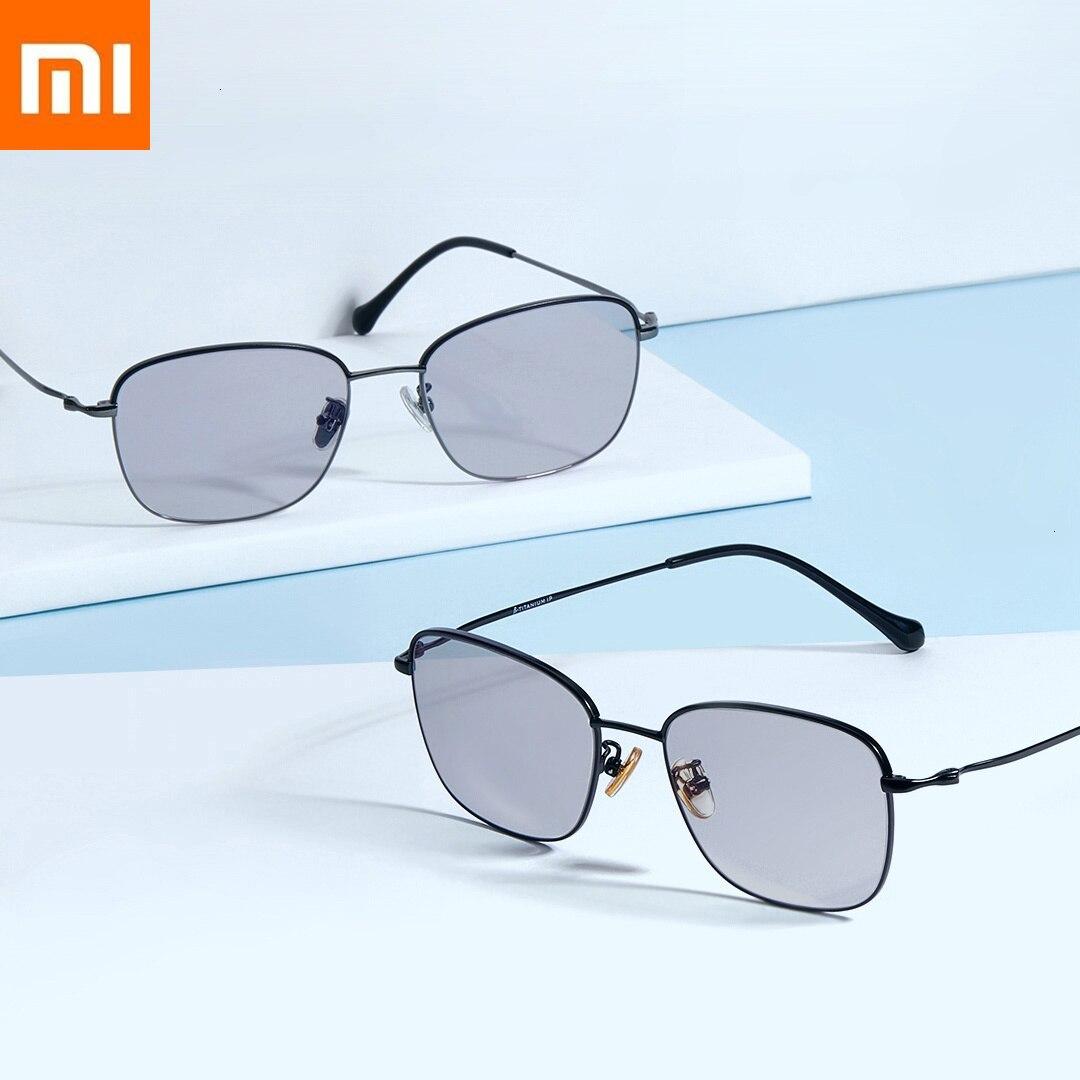 Оригинальный Xiaomi двойной анти-синий очки мульти эффект очки Xiomi Смарт обесцвечивание Защита Синий свет плоский свет (0 градусов)