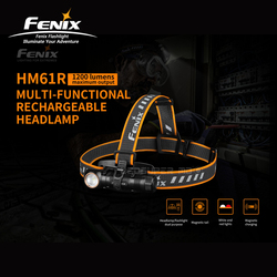 Dual Purpose Fenix HM61R Magnetic USB Charging Multi-functional Rechargeable Headlamp Flashlight with 3500mAh Battery