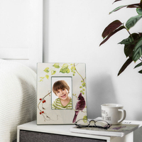 Ceramic Custom Gift Photo Frame Display Stand Wall Gift American Flower And Bird 10 Inch Photo Frame,Home Decoration Accessories