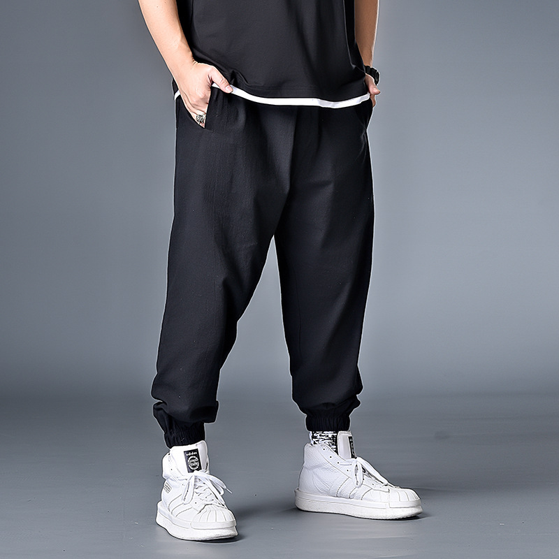 7XL 6XL XXXXL Men Casual Straight 2020 Japanese Cargo Pants Mens Loose Collage Wide Leg Pants Male Streetwear Trousers Buttoms