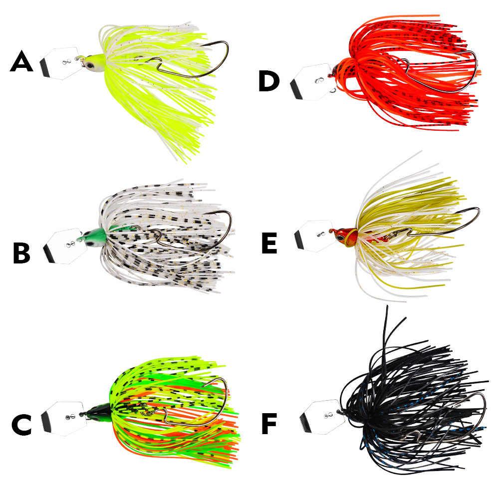 12G Spinner Mồi Câu Cá Mồi Nhử Mồi Giả Kim Sa Lấp Lánh Dương Mồi Câu Cá Mềm Buzzbait Cao Su Nhân Tạo Váy Chatterbait Bass Pesca