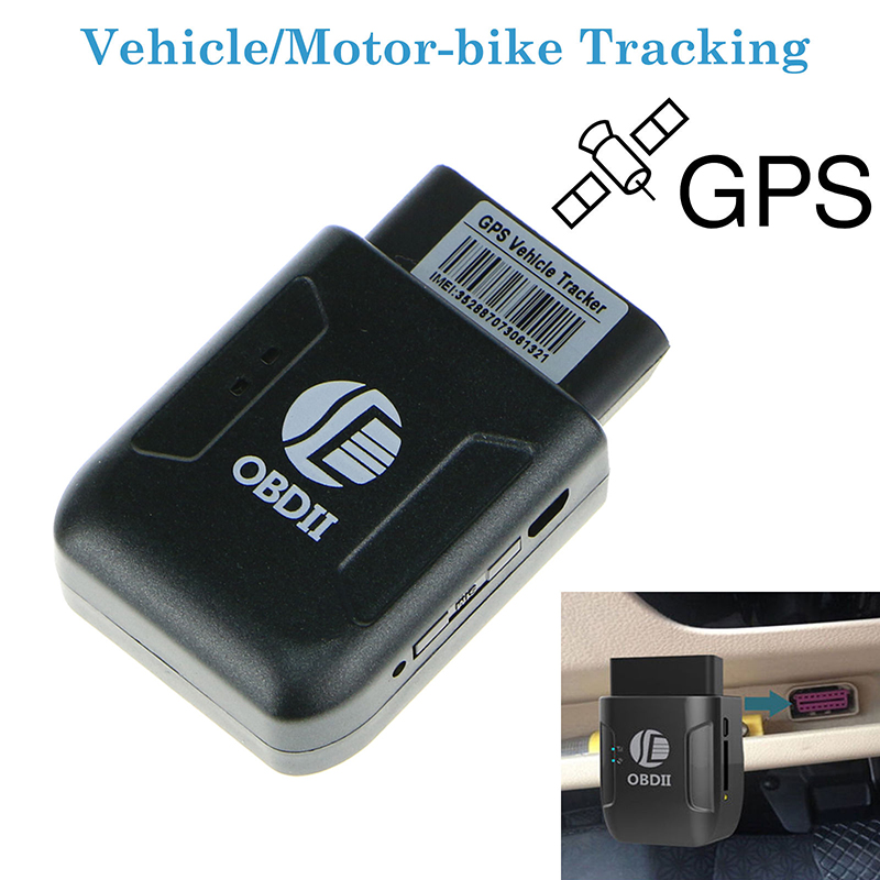 Car Parts Gps Tracker Black OBDII Car GPS Realtime Tracker Mini Tracking Device GSM GPRS Locator Car GPS Trackers