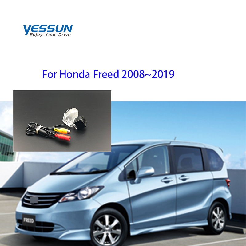 Yessun License Plate Camera For Honda Freed 2008~2019 Car Rear View Camera Parking Assistance