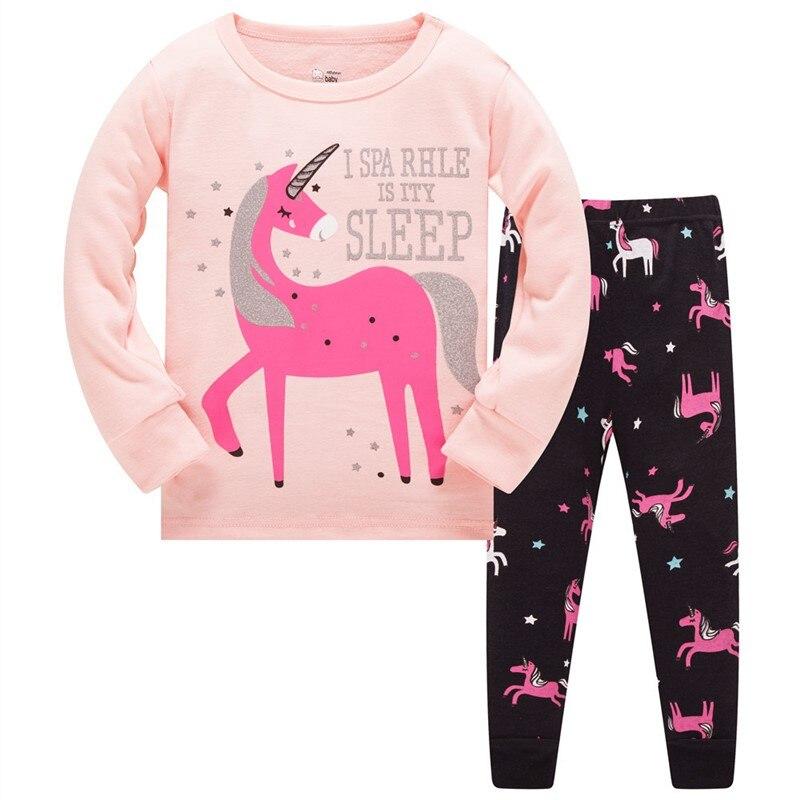 Children's Pajamas Set Kids Pajamas Baby Girl Spring Autumn Pajamas Pajama Infantil Kids Sleepwear Clothes Set 2