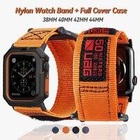 Correa de nailon oficial para Apple watch, banda de alta calidad de 40mm, 44mm para iwatch 5, 6 se, 2, 3, 38mm y 42mm