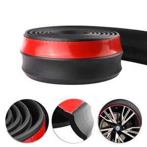 2.5m Car Protector Front Bumper Lip Splitter Car Sticker Body Kit Spoiler Bumpers Valance Chin Car Rubber Strip 60mm Width