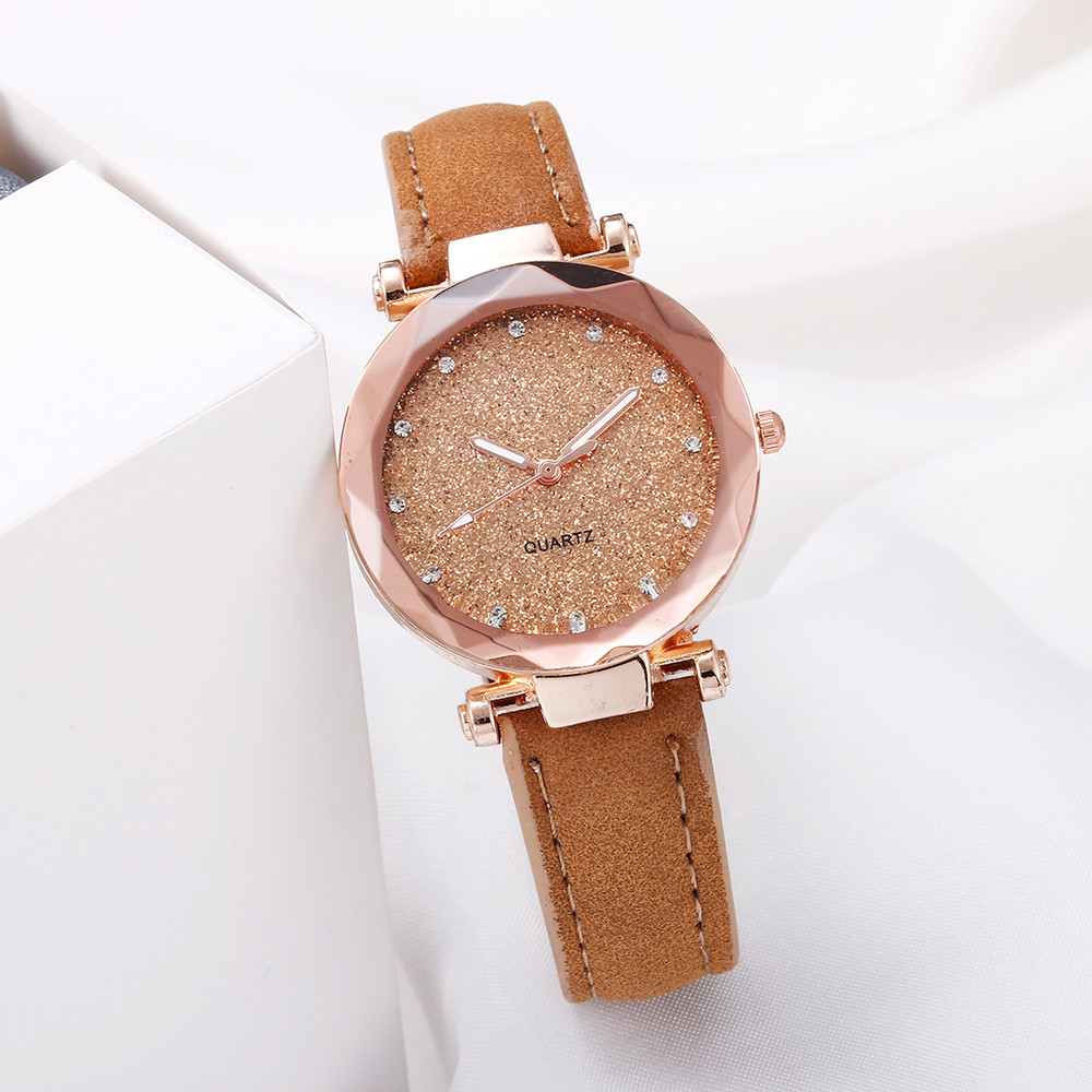 2020 Hot Sale Ladies Waches Casual Women Romantic Starry Sky Watches Women Leather Quartz Watches Gfits Dropship Cheap Price