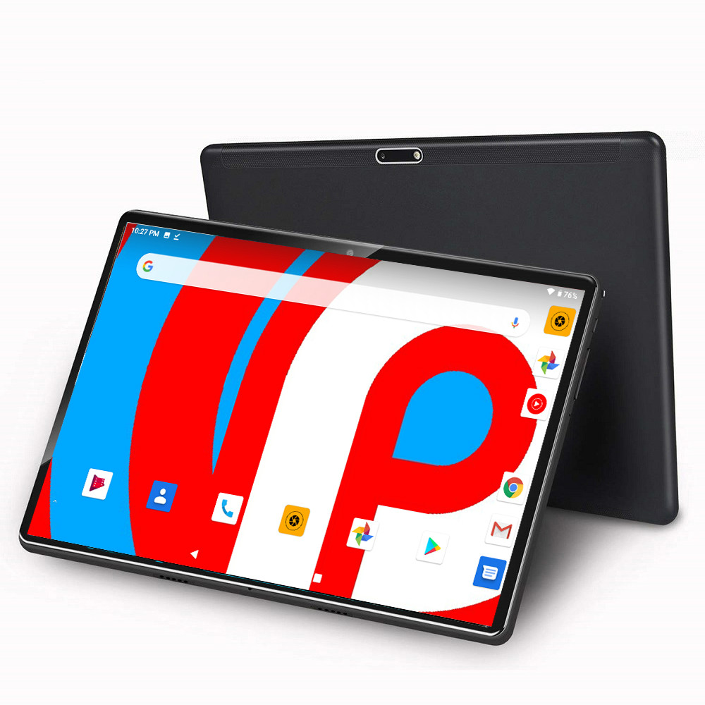 2020 Newest 10 Inch Tablet PC Android 9.0 6G+128GB ROM Quad Core 4 Cores Dual Cameras 5.0 MP 1280*800 IPS 4G Phone Tablets