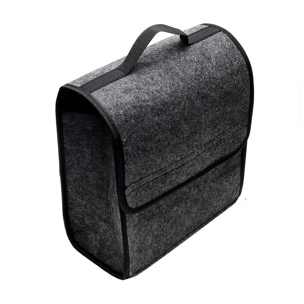 Car Trunk Cargo Bag Storage Tools Box Organizer Foldable Gray Woolen Felt Useful