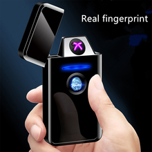 Real fingerprint Pulse double arc AI smart battery Cross ignition USB charging Convenient Gift selection