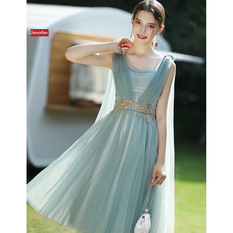 JaneyGao Short Bridersmaid Dresses