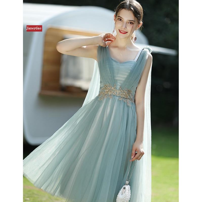 JaneyGao Short Bridersmaid Dresses