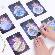 Creative sci-fi planet post-it notes Earth Moon star round note pad South Korea stationery N times post