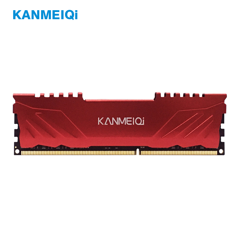 KANMEIQi Ram DDR3 4GB 8GB 1333mhz 1600 1866MHz Desktop Memory With Heat Sink Pc3 Dimm 1.5V Black Red Blue