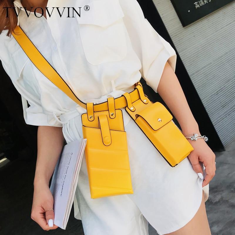 Women's Single Shoulder Crossbody Bag All-match Flap 2020 Summer Personality Female Fashion Waist Chest Belt Bag HF662