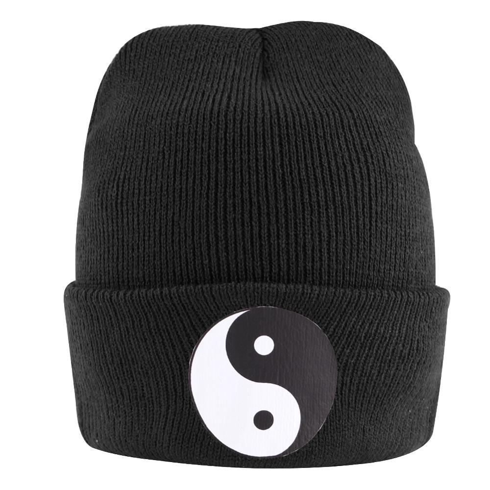 Black Winter Warm Skater Beanie The Great Ultimate Logo Knit Hat Solid Baggy Men's Elastic Caps Cool Bonnet Women Dad Bone Cap