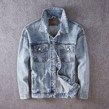 Fashion Streetwear Men Jackets High Quality Printed Designer Slim Fit Denim