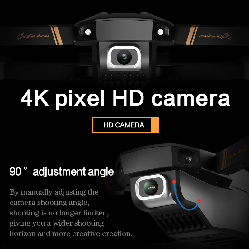 V4 Rc Drone 4k HD Wide Angle Camera 1080P WiFi fpv Drone Dual Camera Quadcopter Real-time transmission Helicopter Toys 2
