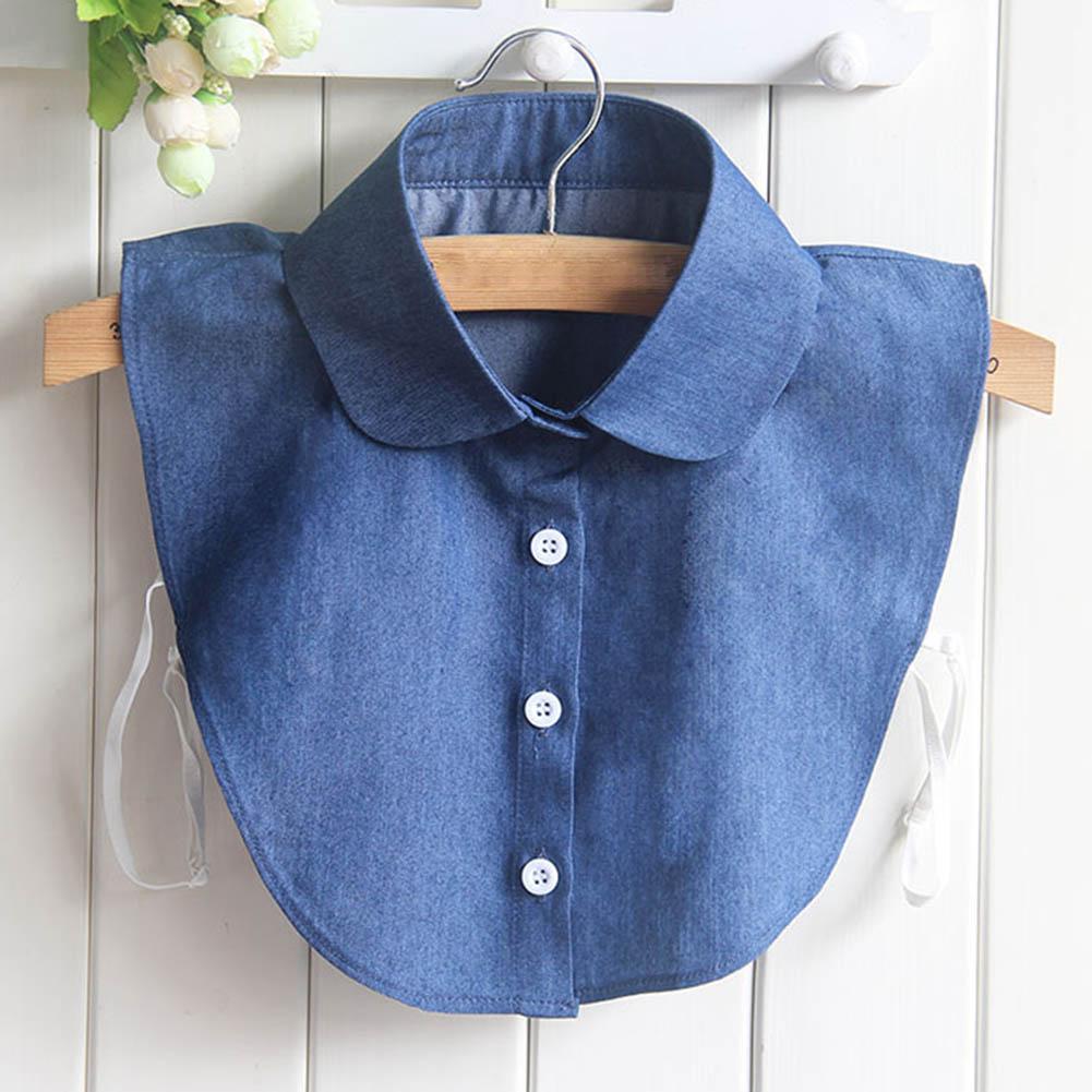 Fake Collar Shirt Jeans Detachable False Collars Blouse For Women Clothes Tops FEA889