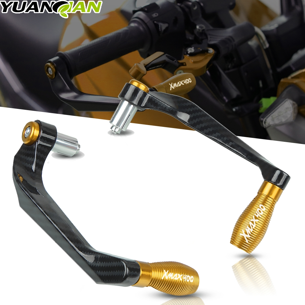 For Yamaha XMAX300 <font><b>400</b></font> 125 250 2014 2015 2016 2017-2019 Motorcycle Universal Handlebar Grips Brake Clutch Levers Guard Protector image
