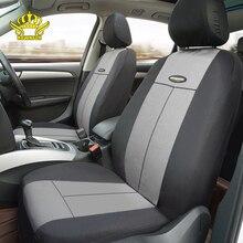 Funda Universal de asiento de coche para la mayoría de coches, cubierta interior automotriz de poliéster gris, cubierta de asiento suave delantera y trasera