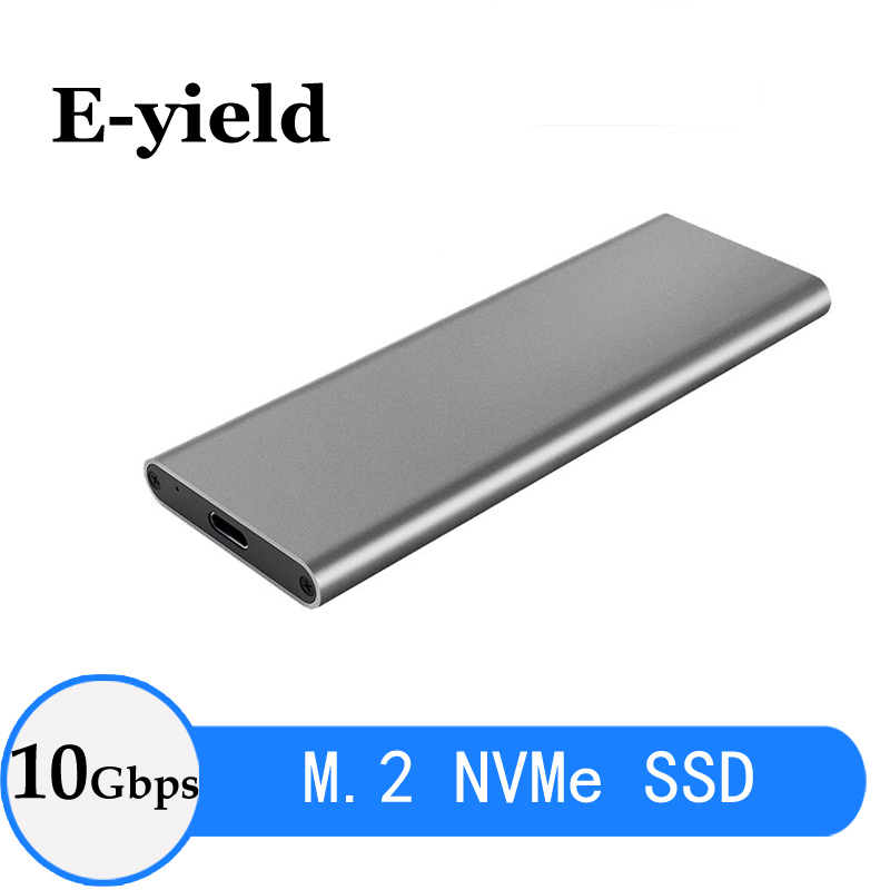 PCIE M.2 NVME/NGFF USB SSD Enclosure M Key Type C USB 3.1  SSD Case Aluminum 10Gbps External Box Solid Disk External
