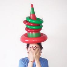 Один набор ПВХ надувная шляпа ведьма игрушка семейные вечерние Веселые пледы кольцо интерактивная игра Дети Образование шляпа кольцеброс Хэллоуин