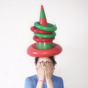 Toy Ring Throw Inflatable Family Children PVC Fun Hat Toss Interactive-Game Witch One-Set