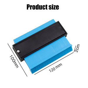 Image 5 - Vastar 5 Inch Plastic Gauge Contour Profiel Kopie Gauge Duplicator Standaard Breedte Hout Markering Tool Betegelen Laminaat Tegels Algemene