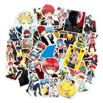 50pcs Anime Assassination Classroom Stickers Graffiti Anime Sticker For Laptop Suitcase Skateboard Fridge Bicycle Luggage Cars