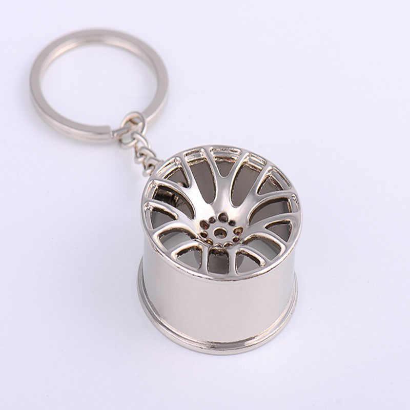 سيارة مفتاح حلقة المفاتيح عجلة حافة مفتاح سلسلة الفاخرة الألومنيوم سيارة المفاتيح اكسسوارات السيارات إصلاح أجزاء سيارة الإطارات عجلة المفاتيح
