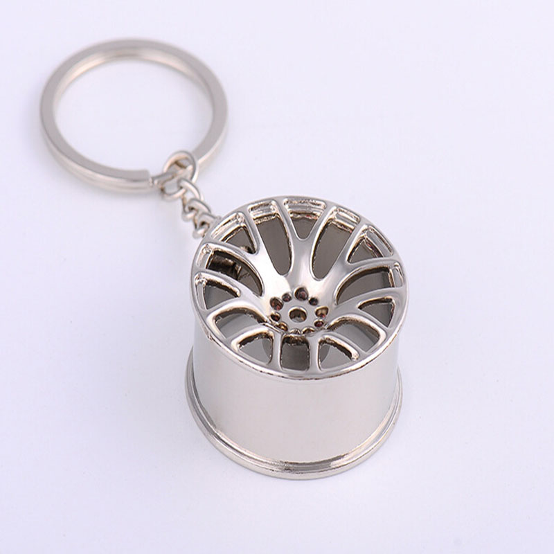 Car Key Ring Keychain Wheel Rim Chain Luxury Aluminum Accessories Auto Repair Parts Tire