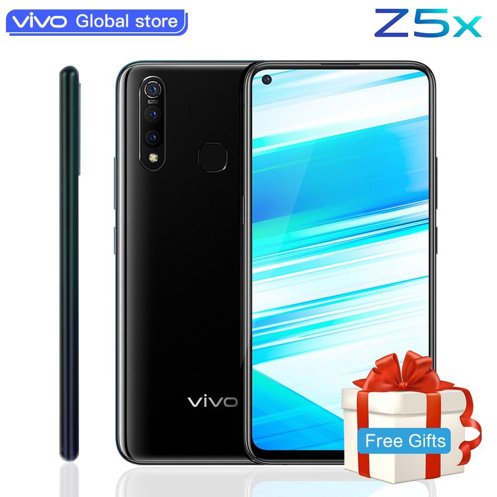 "Original vivo Z5x celular Mobile Phone 6.53"" Screen 6G 128G Snapdragon710 Octa Core Android 9 5000mAh Big Battery Smartphone"