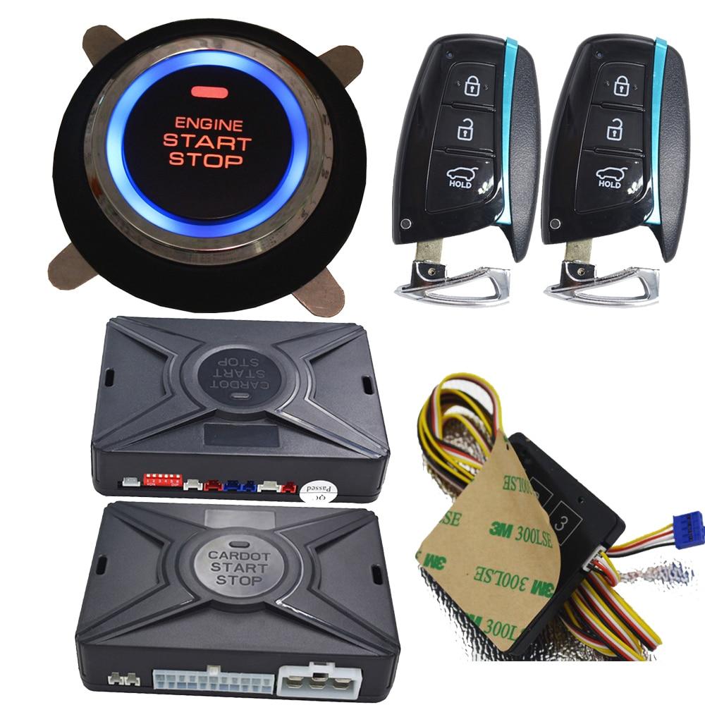 Cardot Remote Starter Push Start Stop Car Passive Keyless Entry Automotive Car Alarm